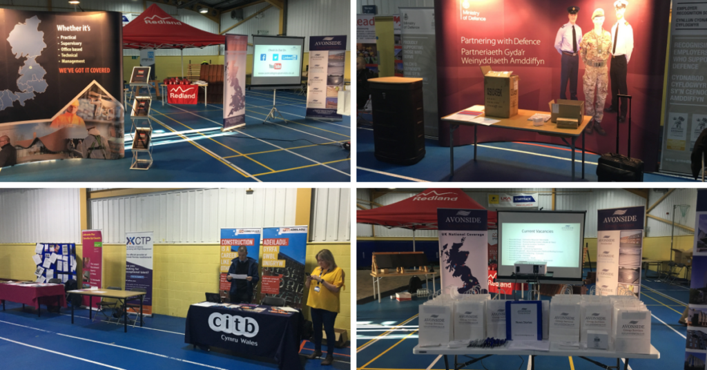 Forces in Construction Insight Day, Avonside, CITB and Ministry of Defence stands