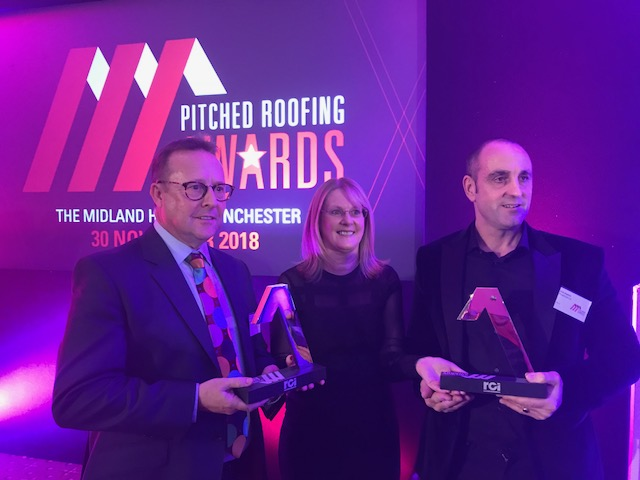 Pitched Roofing Awards 2018, Tony Burke, Helen Hopkins, Chris Hopkins, Ploughcroft Ltd