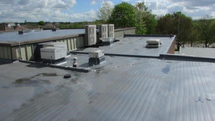 Roof of Hucknell Leisure Centre