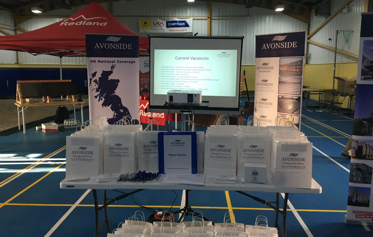 Avonside stand at Forces in Construction Insight Day