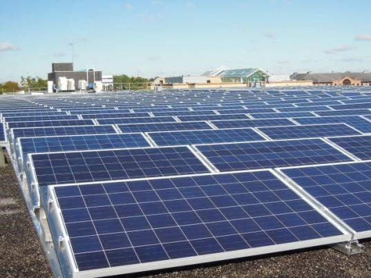 solar panels on a project carried out