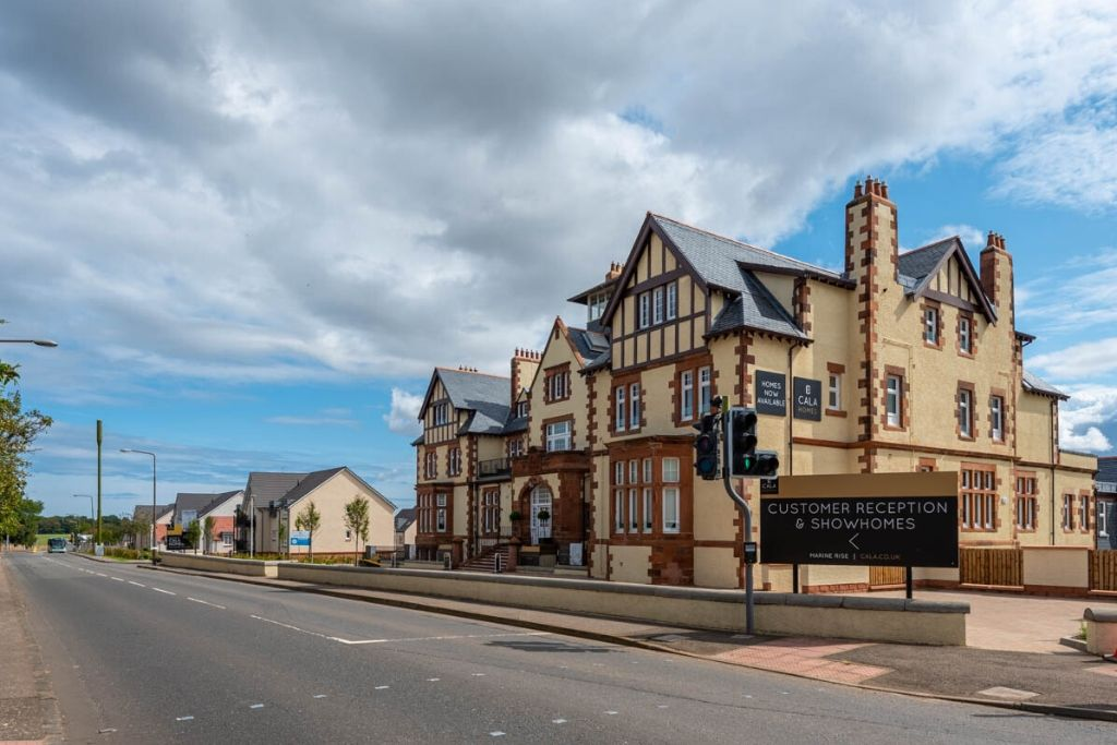 Henderson House in Gullane apartments by CALA Homes (East), roofing by Avonside Group