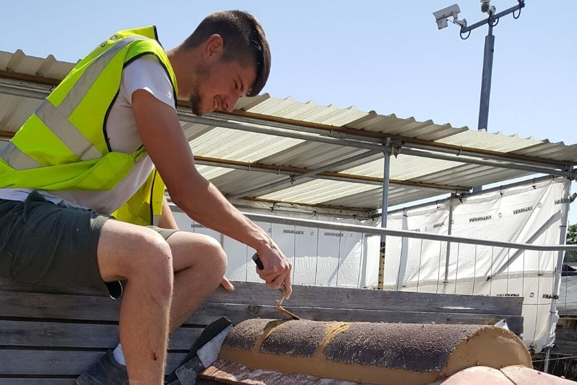 Avonside Braintree's Phil Houghton wins Roofing: Slating and Tilinggold at WorldSkills UK competition