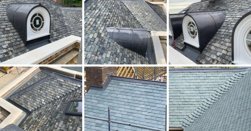 Mid-Kent Roofing's Pitched Roofing Award winning slating project at Mount Harry House