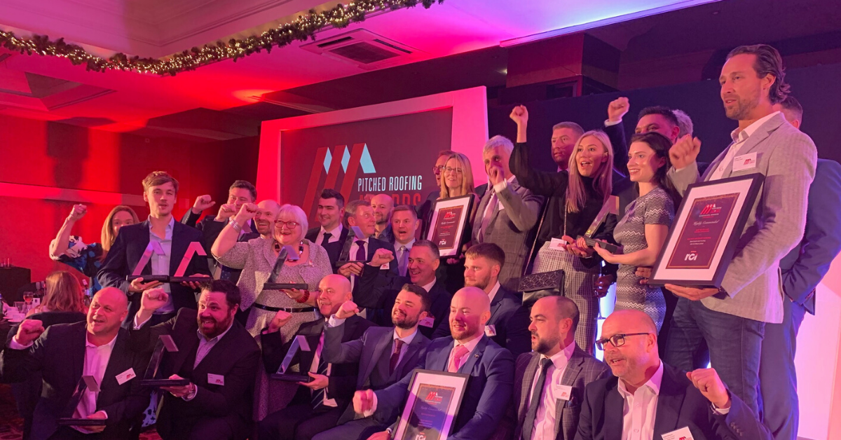 Award winners at the Pitched Roofing Awards 2019 ceremony