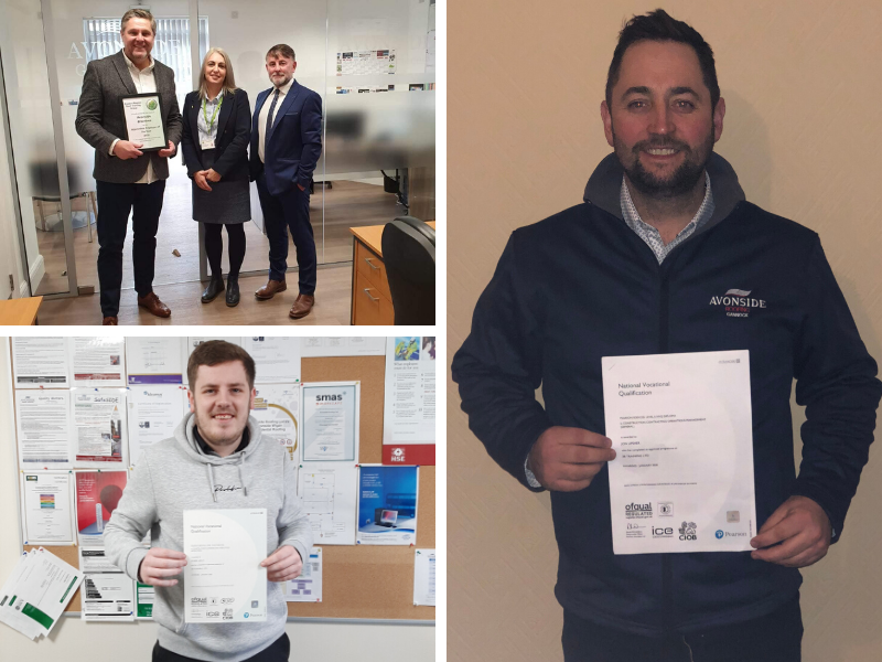 Avonside Group staff gain qualifications and awards