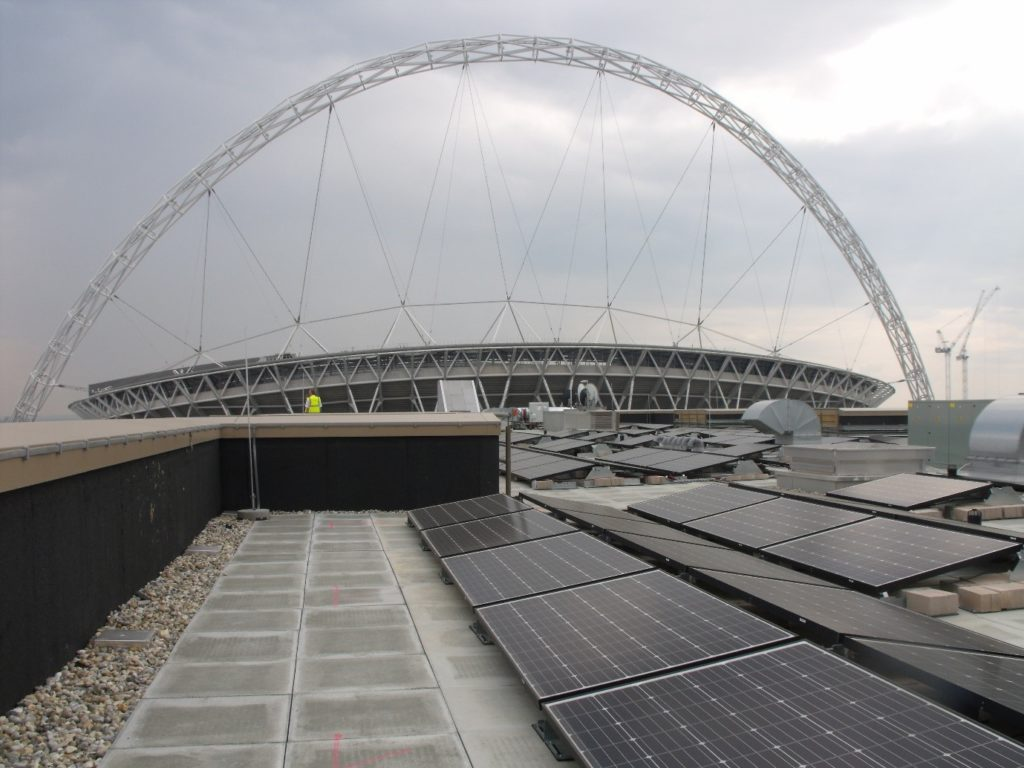 Solar PV Panels, Olympic Way, Wembley