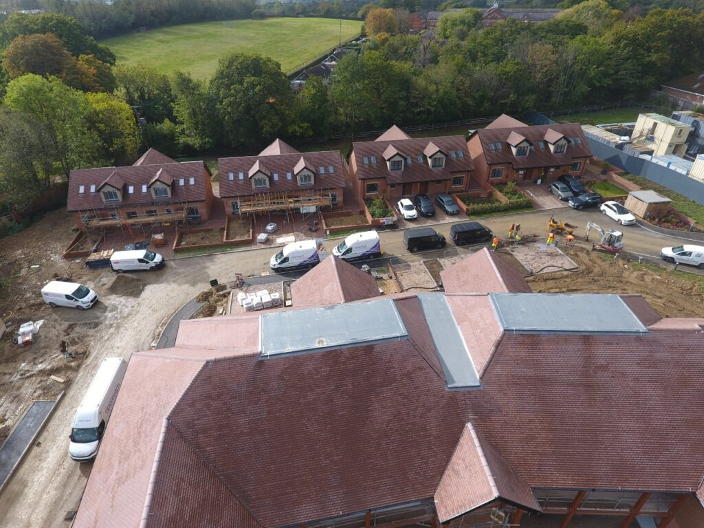 Flat roofs at Gradwell Park residential care village for Bracknell Roofing South East (part of Avonside Group) client Lawrence Baker Ltd