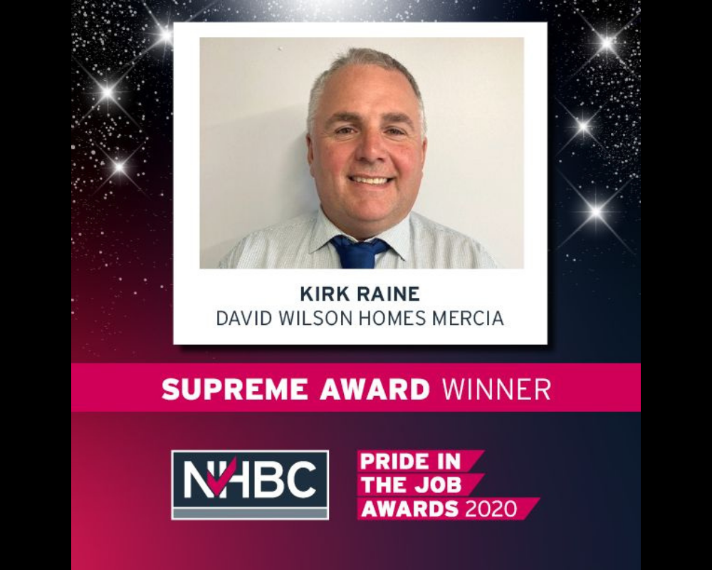 SM Roofing worked along side NHBC Supreme Awards 2020 winner Kirk Raine