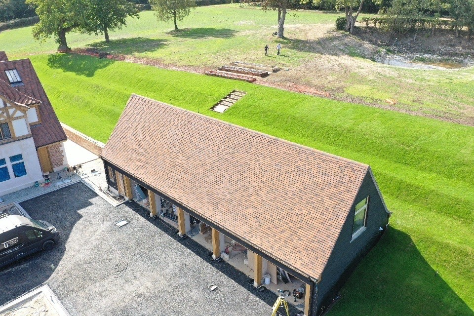 Outbuildings at Shelleys Mid-Kent Roofing (part of Avonside Group) re-roofing project in Kent