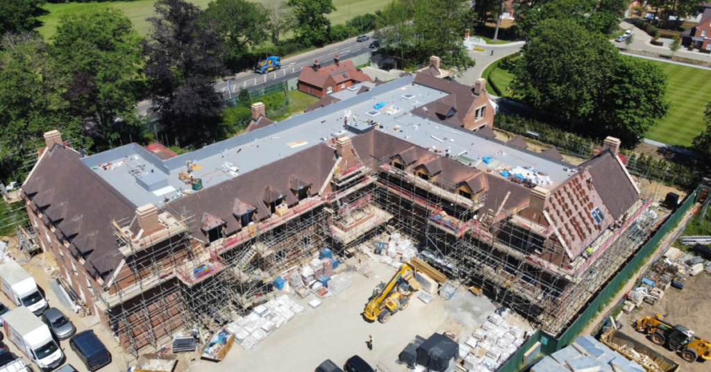 Broadoaks Care Home roof tiling and flat roofing by Bracknell Roofing Ringmer (part of Avonside Group)
